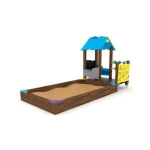 Leikkikatos hiekkalaatikolla
